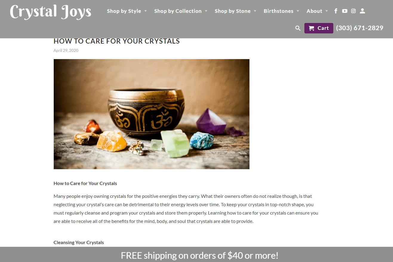 crystal joys blog